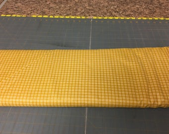 Gold mini plaids Fabric by the yard