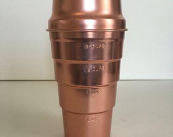 Vintage Aluminum Measuring Cup, copper colored
