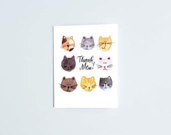 Thank You – Kitty Cat Greeting Card