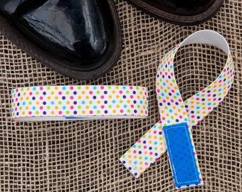 Jod Savers Cuff Straps, Multi Color Polka Dots, saddle seat, saddleseat
