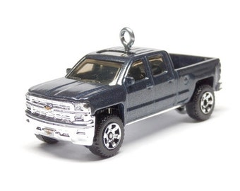 2014 Chevy Silverado Pickup Truck Car Matchbox Ornament, Choose your Ornament Hook Style BettyGiftStore