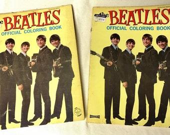 Vintage Beatles Coloring Books (2)
