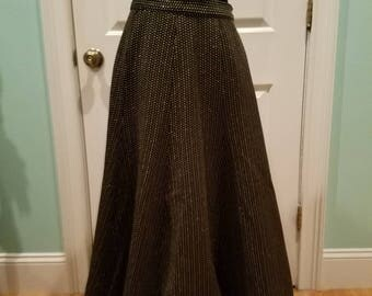 Vintage 70'S Silver & Gold Maxi Skirt