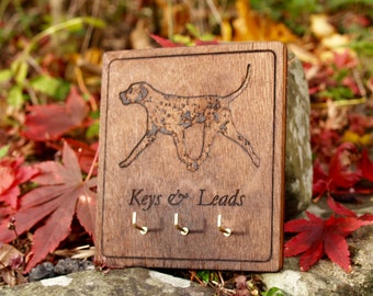 Dalmatian Lead / Key Hook / Holder