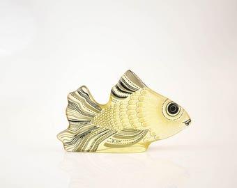 Abraham Palatnik Lucite Fish Op-Art Figurine Mid Century Modern Design
