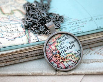 World map necklace etsy custom map necklace holiday gifts personalized necklace jewelry unisex jewellery black round old gumiabroncs Gallery