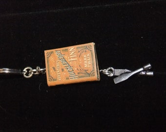 Huckleberry Finn Book Keychain - Great Gift for Book Lovers!