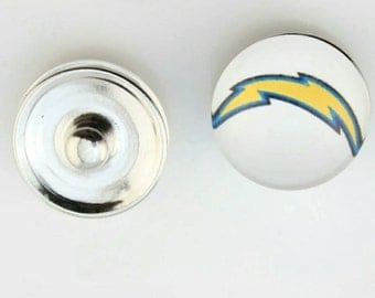 San Diego Chargers Snap Button Charm-Qty-1