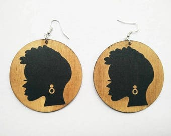 Flawless - Wooden Earrings- Qty: 1 pair