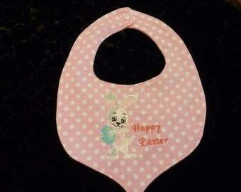 Easter bibs, baby bibs, pink bib, bib, shower gift, baby gift