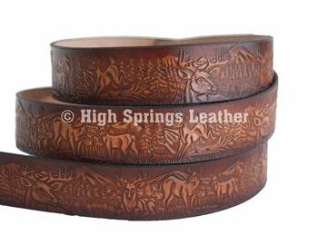 Deer Leather Name Belt