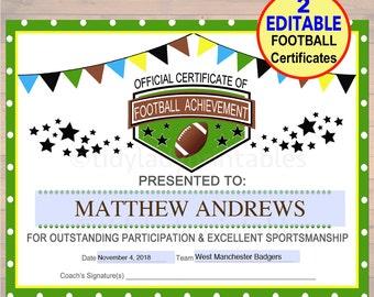 football certificates