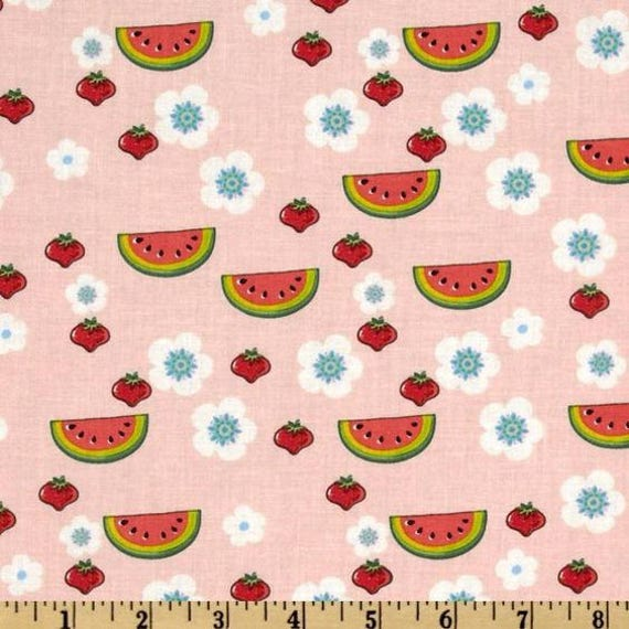 Novelty Fabric By The Yard Quilting Fruit Floral