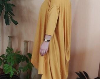Asymmetrical  Jersey Cardigan Artistic Cardigan Loose Cardigan & NaraGIL030