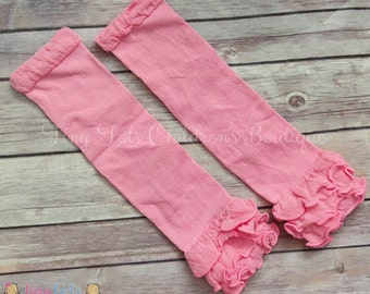 READY TO SHIP Pink Leg Warmers - Valentine Leg Warmers - Toddler Baby Girl Leg Warmers