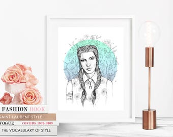 Flower Girl/ Fashion Illustration / Fashion Print