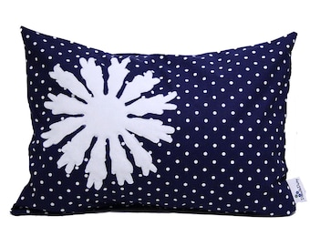 Pillow Case Standard -Navy - Pillow Case -Snowflake