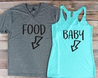 Pregnancy Announcement Shirt/ Couple Pregnancy Announcement/ Funny Pregnancy Shirts/ Pregnant Shirt/ Bun In the Oven/ Pregnant Idea