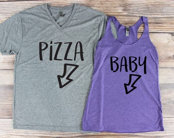 Husband and Wife Pregnancy Announcement/ Pregnancy Announcement Shirt/ His and Her Shirts/ Bun In The Oven/ Baby Announcement/ Pregnant