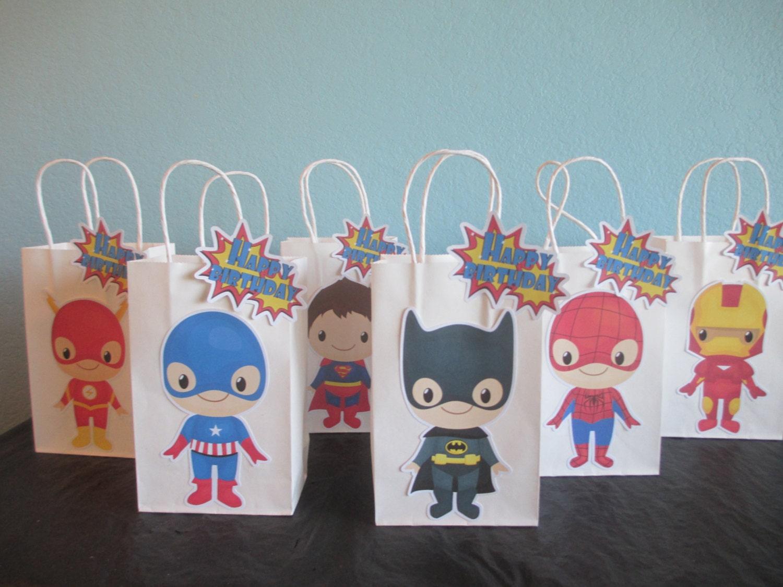 Superhero Party Bags10Super BabySuperhero Goodie