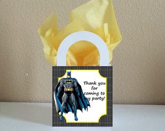 SALE! Small Boxes 3x3x2.5 inches Batman Favor Boxes Batman Favor Bags Batman Popcorn Boxes Batman Party Favors