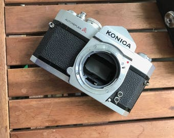 Konica Autoreflex A Camera Body, Vintage Camera Body, Camera Body for Parts or Man Cave Decor