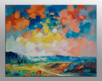 Landscape Painting, Oil Painting, Canvas Art, Large Canvas Painting, Original Abstract Painting, Modern Art, Landscape Oil Paintin, Skyscape