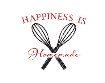 Happiness is homemade Commercial Use svg dxf ai and Eps files for Cricut & Silhouette machines VV0010-C