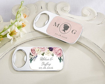 24+ Personalized Bottle Opener, English Garden Wedding Favors, Custom Wedding Bottle Opener (11141EG)