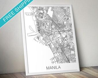Manila Map Print