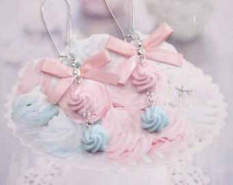 earrings pastel meringues polymer clay