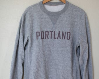 vintage PORTLAND oregon heather gray sweatshirt