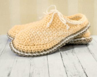 Crochet pattern-women clogs with jute rope soles,soles pattern included,sizes 36-41 EU/5,5-9US,slippers,scuffs,loafers,adult,cord,twine,girl