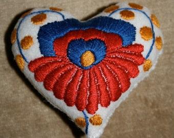 Matyo Heart Pincushion