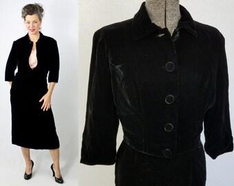 Velvet skirt suit | Etsy