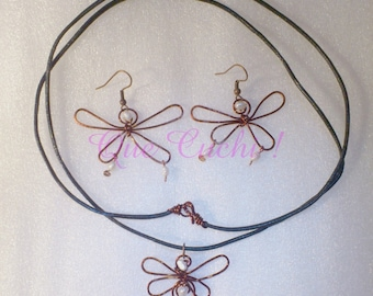 Dragonfly Pearl Set