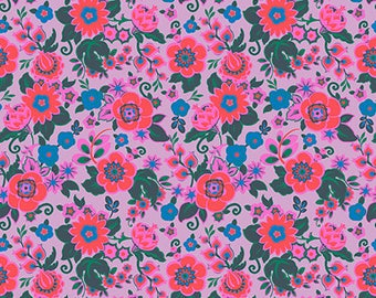 Pre-order: Grand Bouquet in Melon by Amy Butler from the Soul Mate collection for Free Spirit #CPAB001.8Melo by 1/2 yard