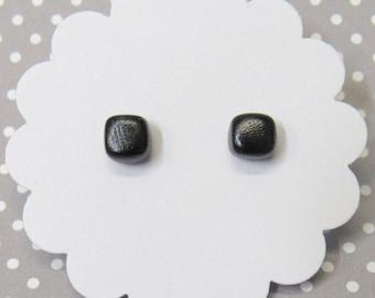 Minimalist Earrings, Black Cube Earrings, Hypoallergenic, Geometric Square Studs, Simple Black Earrings, Simple Stud Earrings
