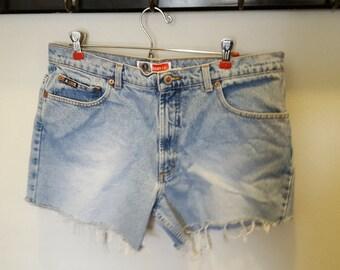 Arizona Light Wash High Waist Denim Shorts Size 15