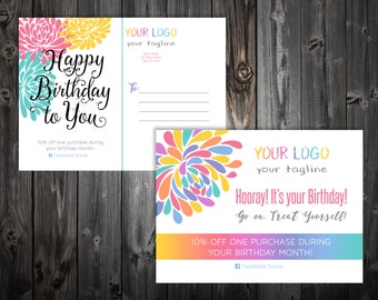 "Birthday Postcard 4x5.5"" - Blossom"