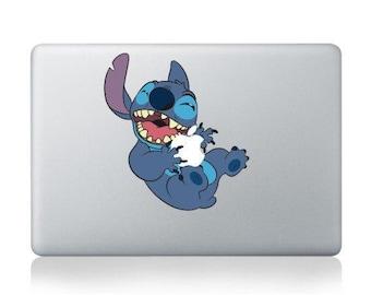 Macbook 15 inch decal sticker tickling Stitch Apple art for Apple Laptop