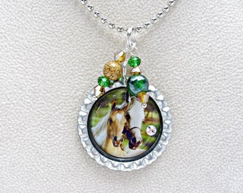 Horse Necklace, Equestrian Jewelry, Horse Jewelry, Gift for Girl, Riding Apparel, Horseback Riding, Horsewoman, Cowgirl Apparel, Dressage