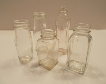 Lot of 5 vintage bottles 1930-1960s