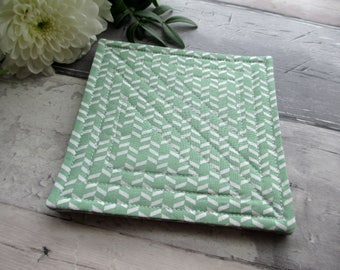 Fabric Coasters, Quilted Coaster Set, Table Coasters, Home Decor, Housewarming Gift, Gift For Him, Modern Decor, Summer Decor