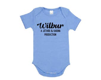 Personalised Production Of Baby Bodysuit, One-Piece For Boys, Gift For New Parents, Customized With Names, Organic Cotton, Newborn Gift