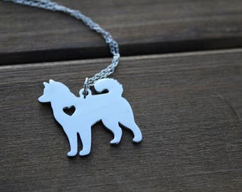 siberian husky charm   necklace