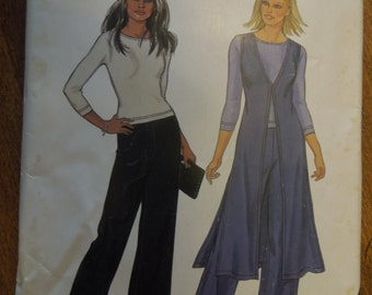 New Look 6151, sizes 10-22, top, vest, pants, UNCUT sewing pattern, craft supplies