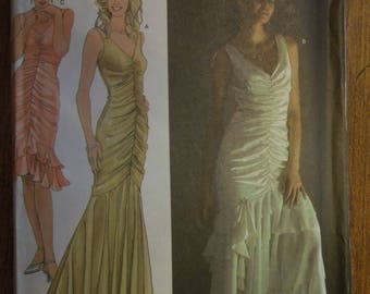 Simplicity 4480, sizes 4-12, Jessica McClintock, evening dress, UNCUT sewing pattern, craft supplies