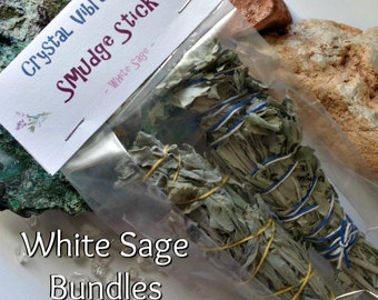 Smudge Stick Bundles / Organic White Sage / Smudging sticks for clearing your personal space