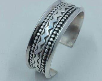 Genuine Sterling Silver Cuff Bracelet